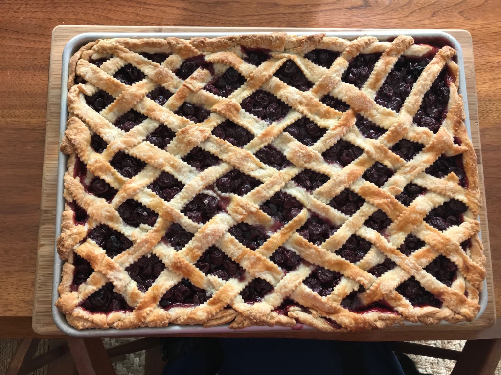 CurvyMama cherry slab pie